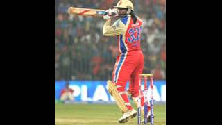Gayle's 175-17sixes against Pune Warriors IPL 6  -2013 at M A Chinnaswami Stadium,Bangalore.
