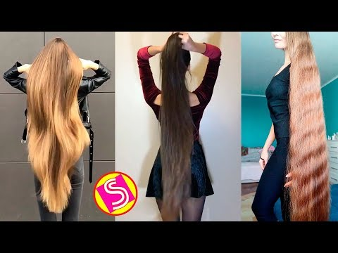 Xxx Mp4 New Oddly Satisfying Hair Video 2018 Extremely Long Hair Girls Rapunzels In Real Life 3gp Sex