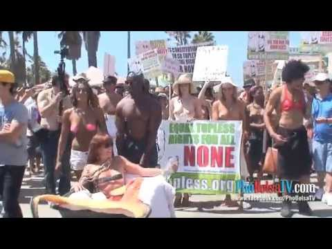 National GoTopless Day Venice Beach California Part 2