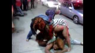 Detroit Fat Women Fight Breaks Out Cars Smashed