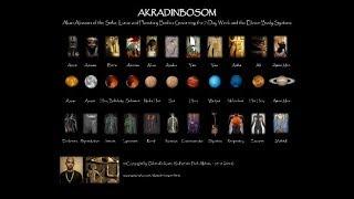 AKRADINBOSOM: Akan Abosom (Deities) of the Eleven Body Systems and 7-Day Week