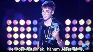 Justin Bieber átveszi a díját - 2011 VMA