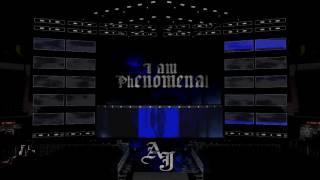 AJ Styles entrance animation