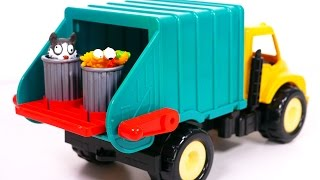 Garbage Truck Playset for Kids!! Toy Vehicles for Boys