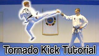 How to Taekwondo Tornado/360 Turning Kick | GNT Tutorial