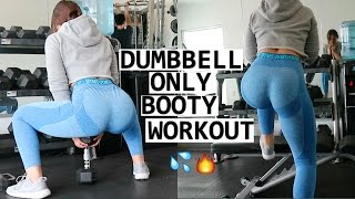 Dumbbell Only LEG WORKOUT  Booty & Hamstrings 