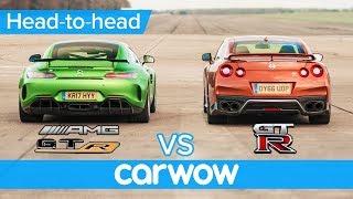 Mercedes-AMG GT R vs Nissan GT-R: DRAG RACE, ROLLING RACE & BRAKE TEST   Head-to-Head