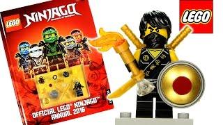 Official Lego® Ninjago Annual 2016 w/ Cole in Tournament Robe Minifigure