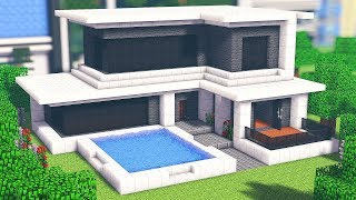 Tuto Grande Maison Moderne Facile A Faire Minecraft بوابة