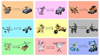 Eeveelutions As Transformers - by Shin ART.