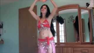 Sabrina's belly dance تحبني
