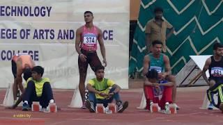 JUNIOR BOY'S  100m RUN SEMI-1. 16th FED CUP NATIONAL JR ATHLETICS CHAMPIONSHIPS 2018
