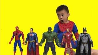 Finger Family Song Spiderman Hulk Superhero | Baby Songs Nursery Rhymes | The Surprise For Kids