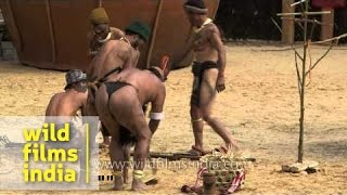 Hunting enactment by Phom tribe of Nagaland
