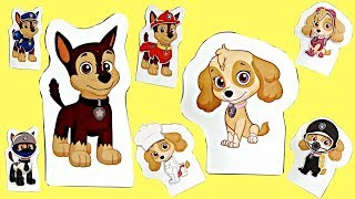 Nick Jr. PAW PATROL Magnet Transform Magic SKYE CHASE Outfits Costumes Pup House / TUYC