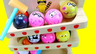 Peppa Pig Wooden Toy Balls! With Preschool toys for Kids