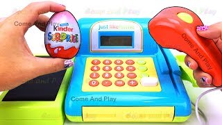 Just Like Home Cash Register Playset Surprise Toys Learn Colors Squishy Slime Tayo Little Bus Kids
