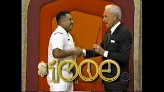 The Price is Right:  December 14, 1998  (Debut of $1,000 Bonus Rule in Clock Game!!)