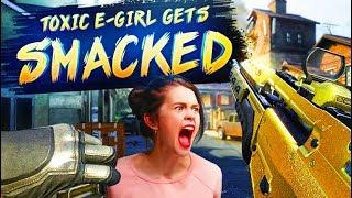 SHIT TALKING E-GIRL GETS SMACKED 4v8 (BO2 SnD)