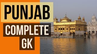 PUNJAB complete General Knowledge (Static)