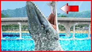 Jurassic World Game Mobile #33: MOSASAURUS ăn thịt MEGALODON nè các bạn