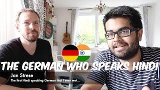 The GERMAN who speaks fluent HINDI: Jan Strese (Language: Hindi)