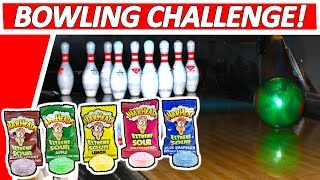 ULTIMATE Bowling Challenge with EXTREME SOUR Warhead Candy!