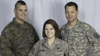 Mom salutes daughter, sons and son-in-law