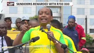 Patrice Motsepe addresses Sundowns players, supporters