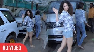 Gorgeous Kangana Ranaut Spotted At Sunny Super Sound Recording Studio