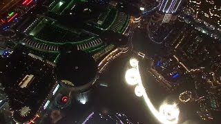 Amazing View of Fountain Show at Burj Khalifa, Dubai From 124th Floor (Observation Desk)