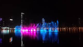 Stunning Corniche water fountain show at sharjah in evening