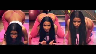 Nicki Minaj ass jiggle - Anaconda - Pink thong split screen loop