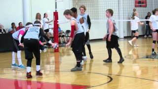 Schimelpfenig Middle School - Boys vs Girls 8th grade volleyball game1
