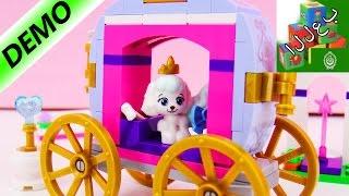 عربة  الاميرة سيندرلا و الكلب الصغير بداخلها من الليجو