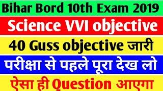 10th Science VVI objective/Matric Science VVI question 2019/Science objective importent Bihar bord