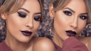 FALL GLAM LOOK BERRY BOLD LIPS + WINGED LINER | DESI PERKINS