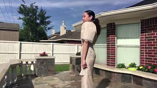 Pinay teen turns heads after wearing traditional Filipiniana gown to prom