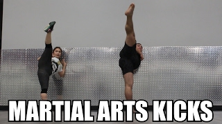 MARTIAL ARTS KICKING DRILLS (Feat. Brian Le & Gemma Nguyen)
