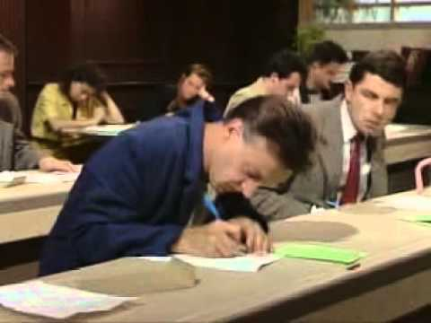 Mr bean in exam hall