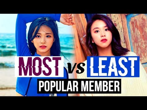 MOST VS LEAST POPULAR MEMBER IN KPOP GROUPS (BTS, EXO, BLACKPINK, GOT7, NCT, TWICE, and more...)