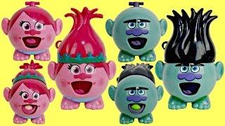 TROLLS RADZ Poppy, Branch, Guy Diamond Biggie Candy Dispenser, Poster, Stickers Toy Surprises / TUYC