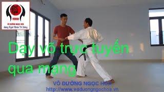 Dạy võ trực tuyến qua mạng buổi 2 võ đường Ngọc Hòa karate do