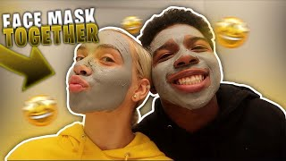 MY CRUSH MADE ME DO A FACE MASK ROUTINE! *not doing it again*