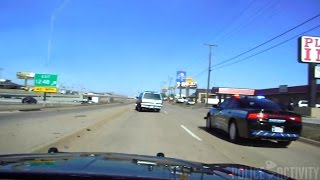 Dashcam Footage Of A Stolen Truck Pursuit In Oklahoma City