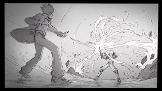 How to Draw Fight Scenes: Fireball VS Sword (Time Lapse)