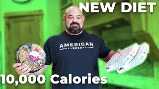 FULL DAY OF EATING ON THE NEW DIET! 10,000 CALORIES