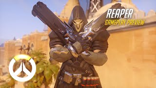Reaper Gameplay Preview | Overwatch | 1080p HD, 60 FPS