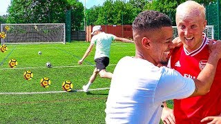 F2FREESTYLERS VS WORLDS HARDEST FOOTBALL CHALLENGE