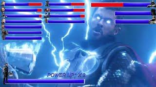 AVENGERS INFINITY WAR Final Battle ... With Healthbars | Battle in Wakanda: Wakanda Forever ? (HD)